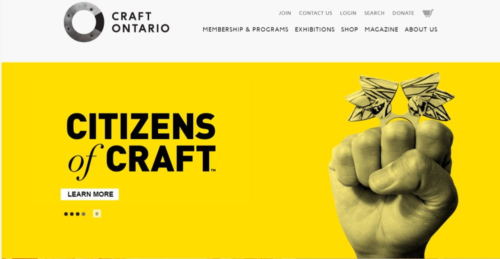 Craft Ontario website cover